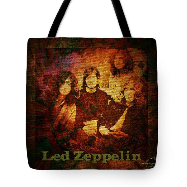 Led Zeppelin - Kashmir Tote Bag by Absinthe Art By Michelle LeAnn Scott