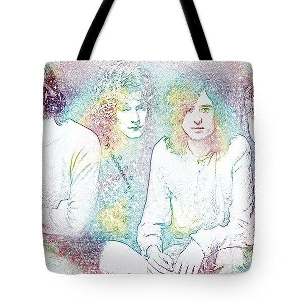 Led Zeppelin Tie Dye Tote Bag by Dan Sproul