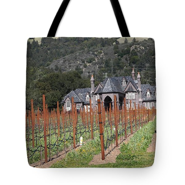 Ledson Winery and Vineyard in Late Winter Just Before The Bloom 5D22192 Tote Bag by Wingsdomain Art and Photography
