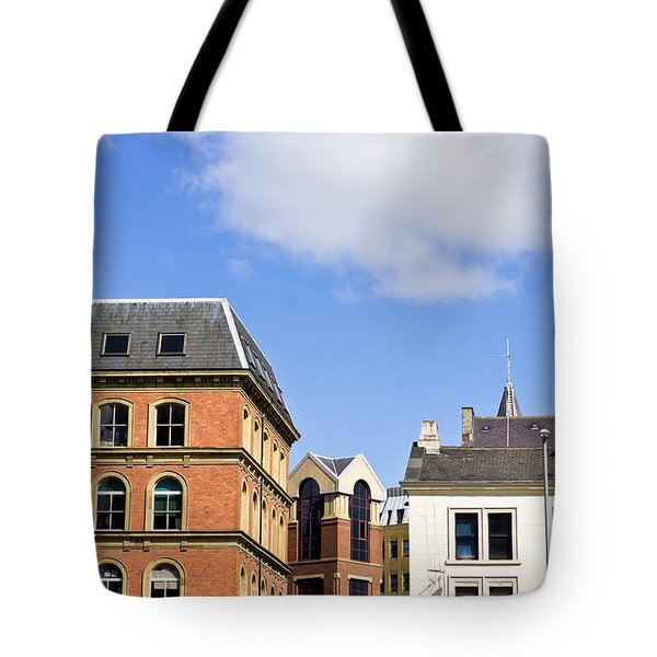 Leeds buildings Tote Bag by Tom Gowanlock
