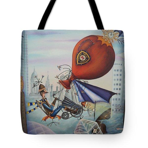 Leeds Gentleman Flies Again Tote Bag by Krystyna Spink