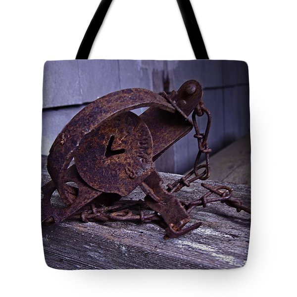 Leg Hold Trap  Tote Bag by Rob Mclean