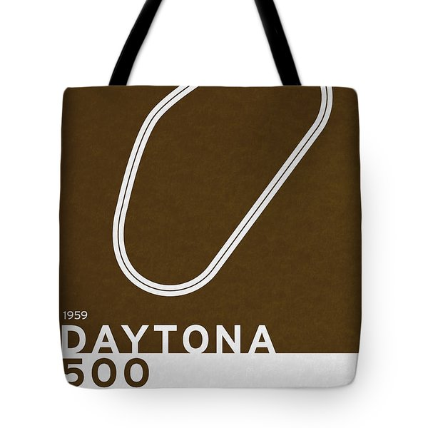 Legendary Races - 1959 Daytona 500 Tote Bag by Chungkong Art