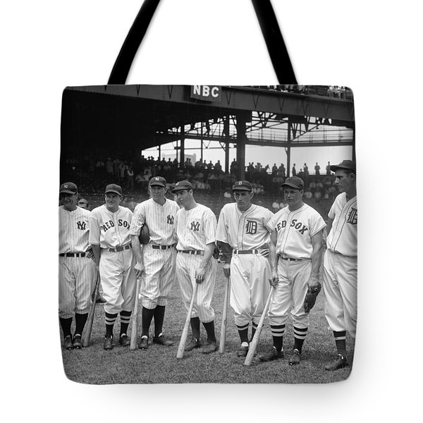 Legends Row Tote Bag by Mountain Dreams