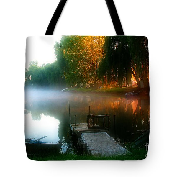 Leidy Lake Campground Tote Bag by Douglas Stucky