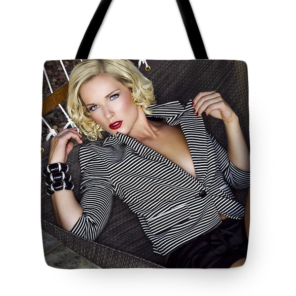LEISURE CLASS Palm Springs Tote Bag by William Dey