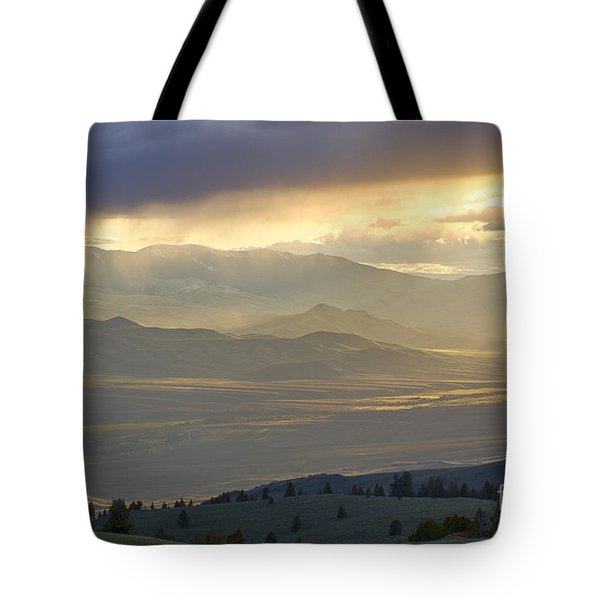 Lemhi Valley Light Tote Bag by Idaho Scenic Images Linda Lantzy