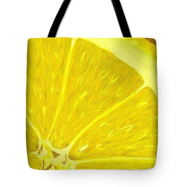 Lemon Tote Bag by Anastasiya Malakhova