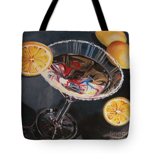 Lemon Drop Tote Bag by Debbie DeWitt