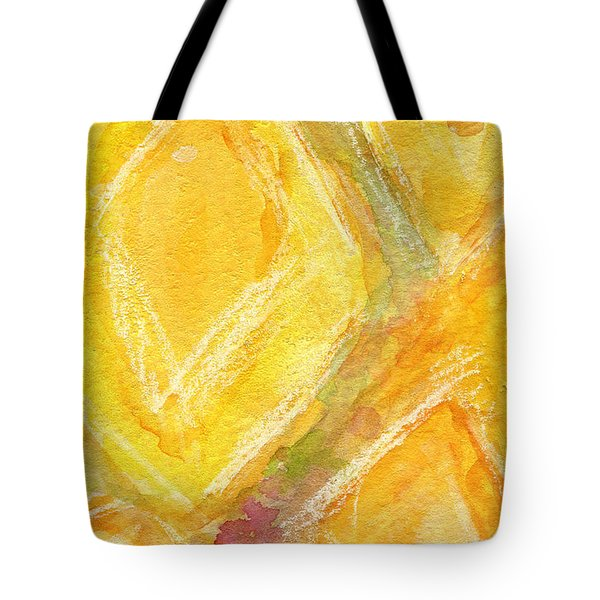 Lemon Drops Tote Bag by Linda Woods