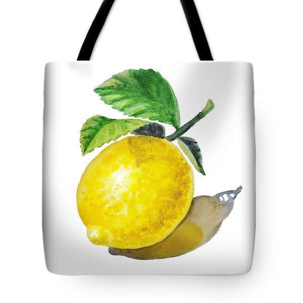 Lemon Tote Bag by Irina Sztukowski