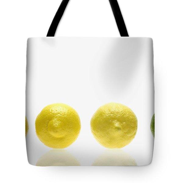 Lemons And Lime Tote Bag by Kelly Redinger