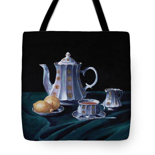 Lemons and Tea Tote Bag by Anastasiya Malakhova