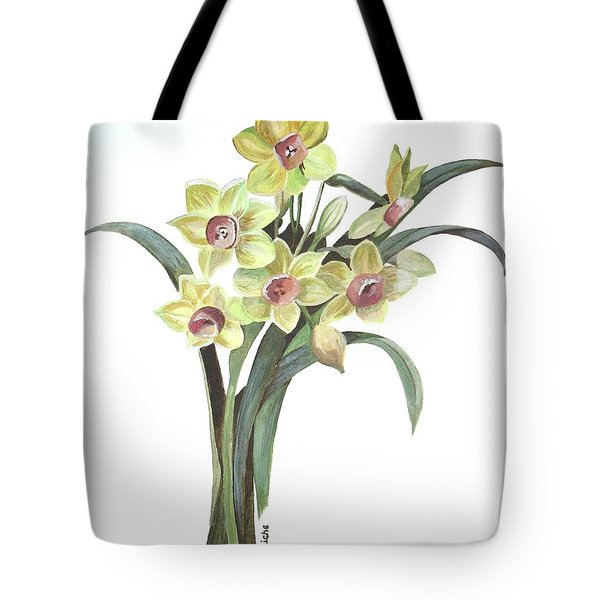 Lent Lily Tote Bag by Tracey Harrington-Simpson