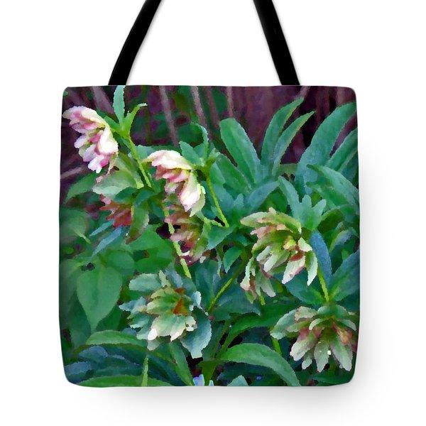 Lenten Roses Tote Bag by Jean Hall