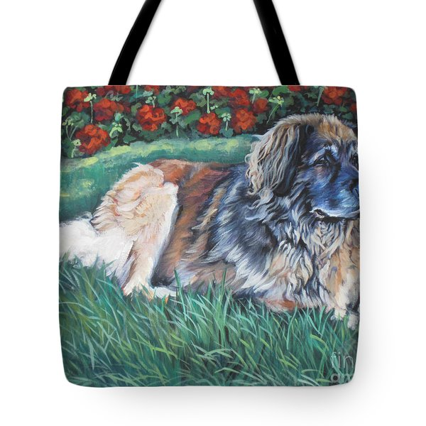 Leonberger Tote Bag by Lee Ann Shepard