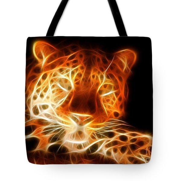 Leopard Intimidating Look Tote Bag by Pamela Johnson