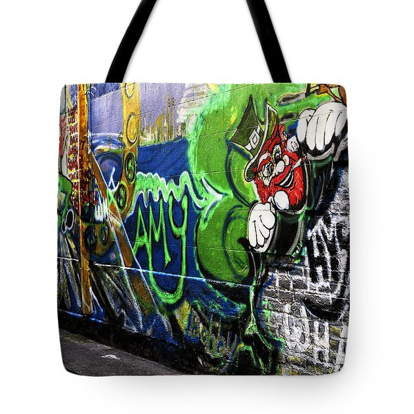 Leprechaun Graffiti Tote Bag by John Rizzuto