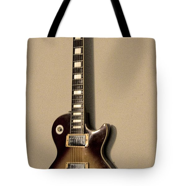 Les Paul Electric Guitar Tote Bag by Bill Cannon