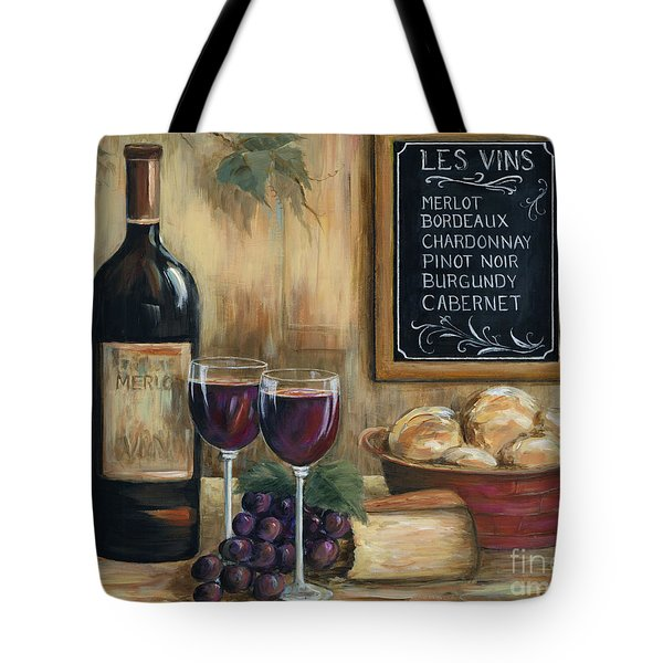 Les Vins Tote Bag by Marilyn Dunlap