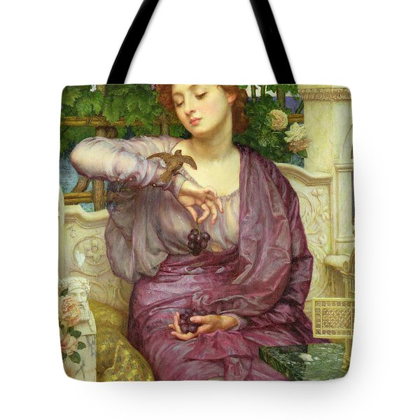 Lesbia And Her Sparrow Tote Bag by Sir Edward John Poynter