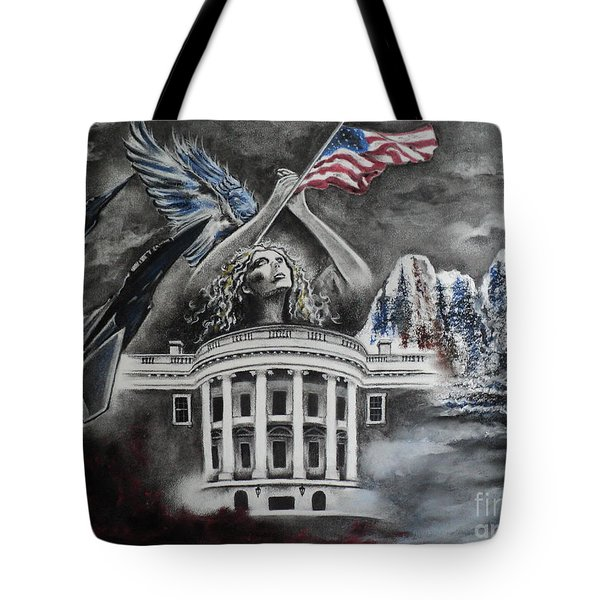 Let Freedom Ring Tote Bag by Carla Carson