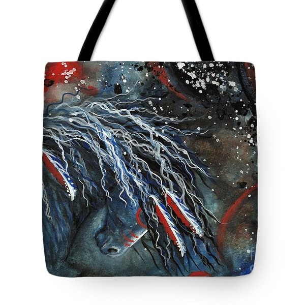 Let Freedom Run Majestic Series #71 Tote Bag by AmyLyn Bihrle