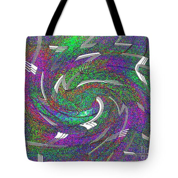 Let The Music Play Abstract Art Tote Bag by Annie Zeno