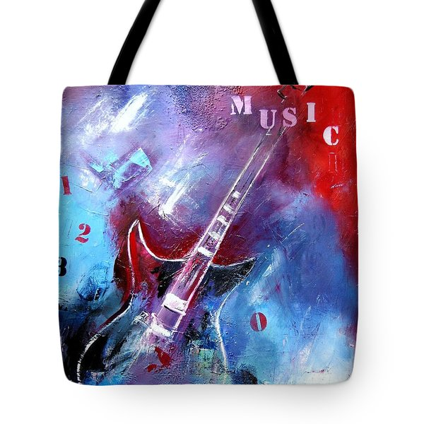 Let The Music Play Tote Bag by Elise Palmigiani
