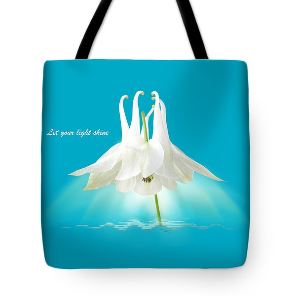 Let Your Light Shine Tote Bag by Gill Billington