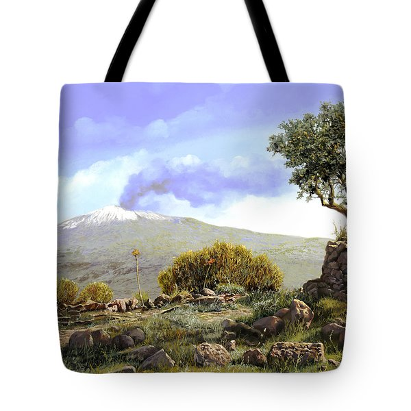 l'Etna  Tote Bag by Guido Borelli