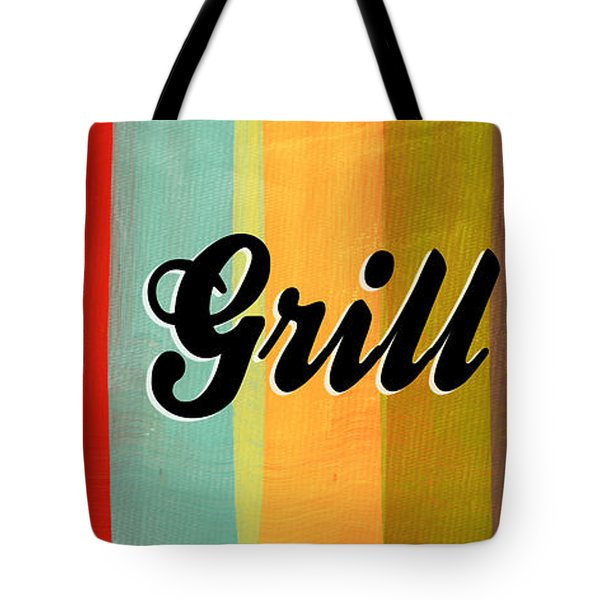 Let's Grill This Tote Bag by Linda Woods