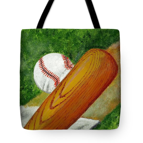 Let's Play Ball Tote Bag by Declan Leddy