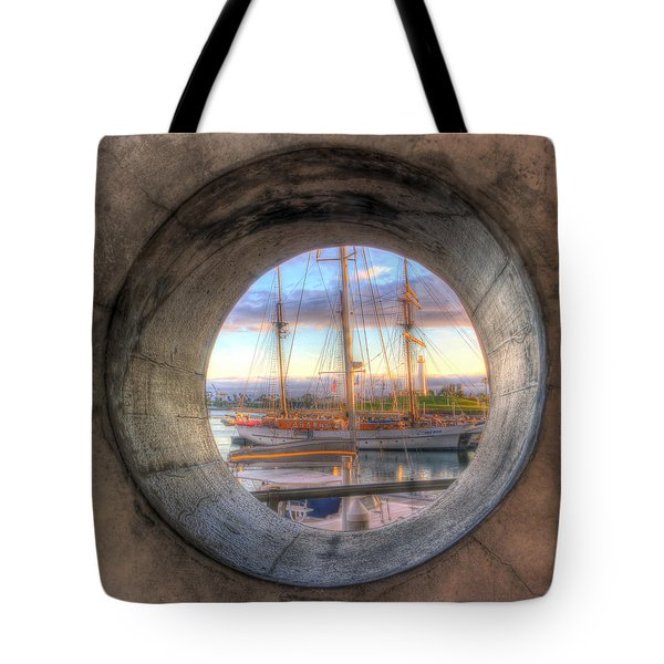 Let's Pretend It's A Porthole Tote Bag by Heidi Smith