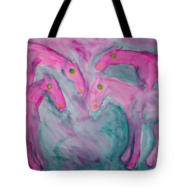 Lets stick together  Tote Bag by Hilde Widerberg