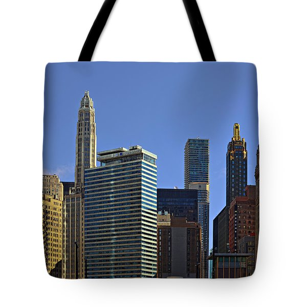 Let's Talk Chicago Tote Bag by Christine Till