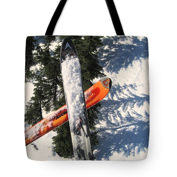 Lets Toast Our Skis Together Tote Bag by Kym Backland