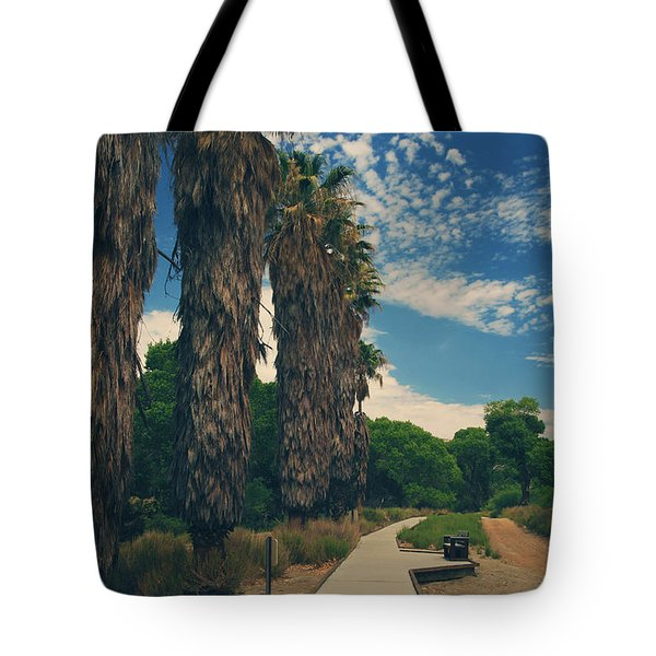 Let's Walk This Path Together Tote Bag by Laurie Search