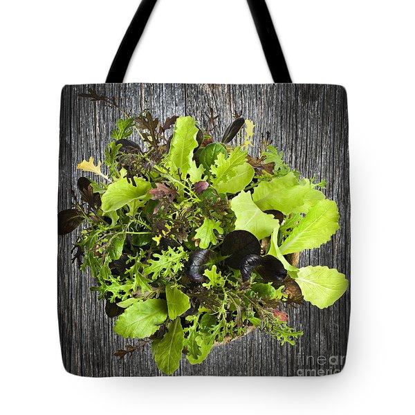 Lettuce Seedlings Tote Bag by Elena Elisseeva