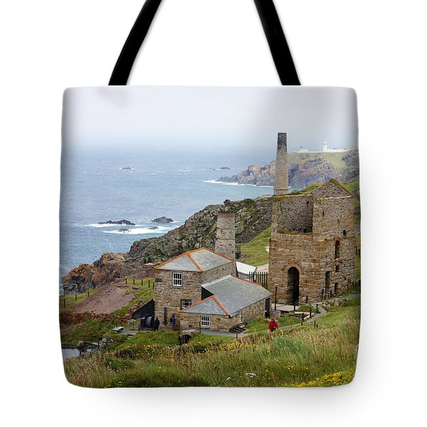 Levant Mine and Beam Engine Tote Bag by Terri  Waters