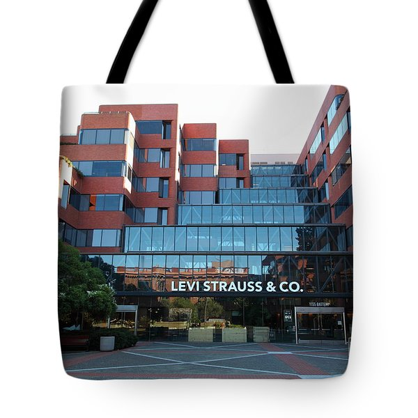 Levi Strauss and Company Plaza At The San Francisco Embarcadero 5D26202 Tote Bag by Wingsdomain Art and Photography