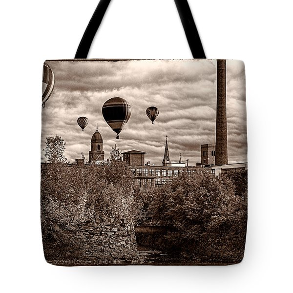 Lewiston Maine Hot Air Balloons Tote Bag by Bob Orsillo