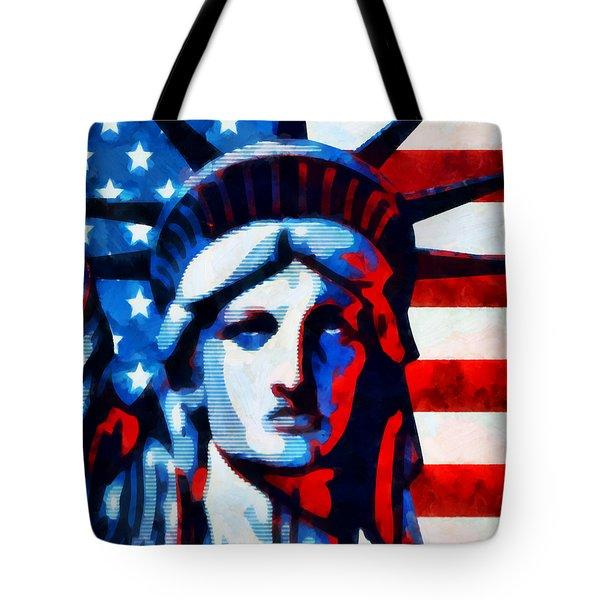 Liberty 2 Tote Bag by Angelina Vick