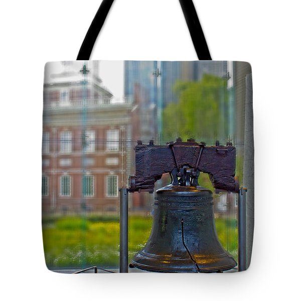 Liberty Bell Tote Bag by Tom Gari Gallery-Three-Photography