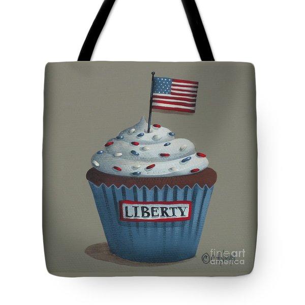 Liberty Cupcake Tote Bag by Catherine Holman