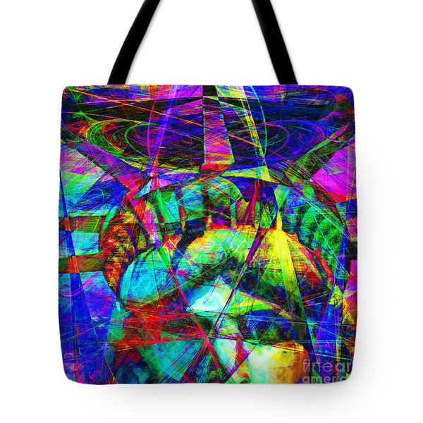 Liberty Head Abstract 20130618 square Tote Bag by Wingsdomain Art and Photography