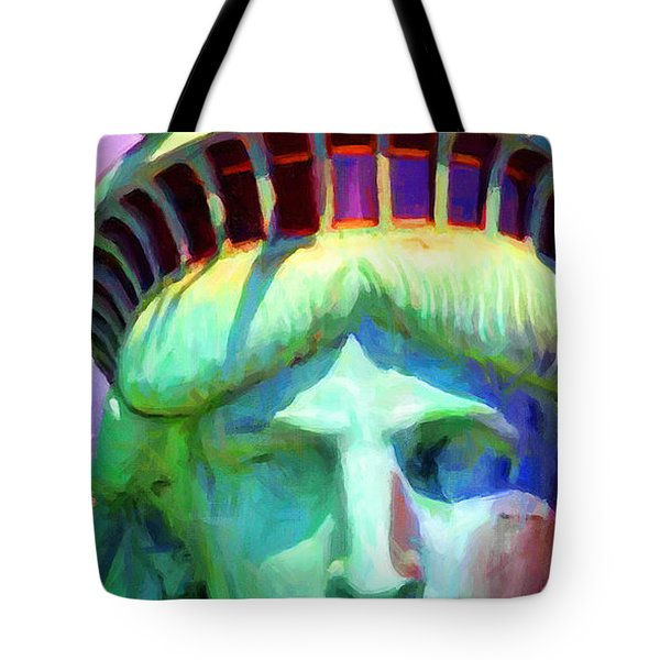 Liberty Head Painterly 20130618 Long Tote Bag by Wingsdomain Art and Photography