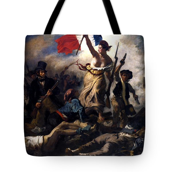 Liberty Leading The People During The French Revolution Tote Bag by War Is Hell Store