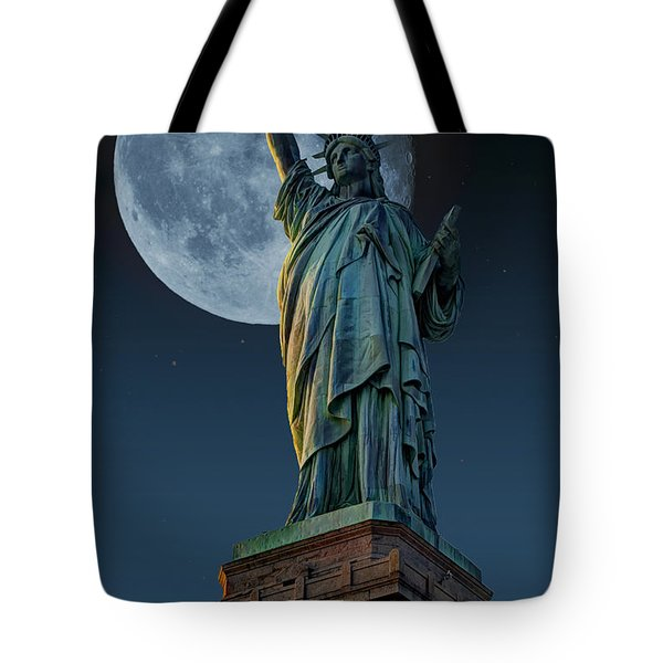 Liberty Moon Tote Bag by Steve Purnell