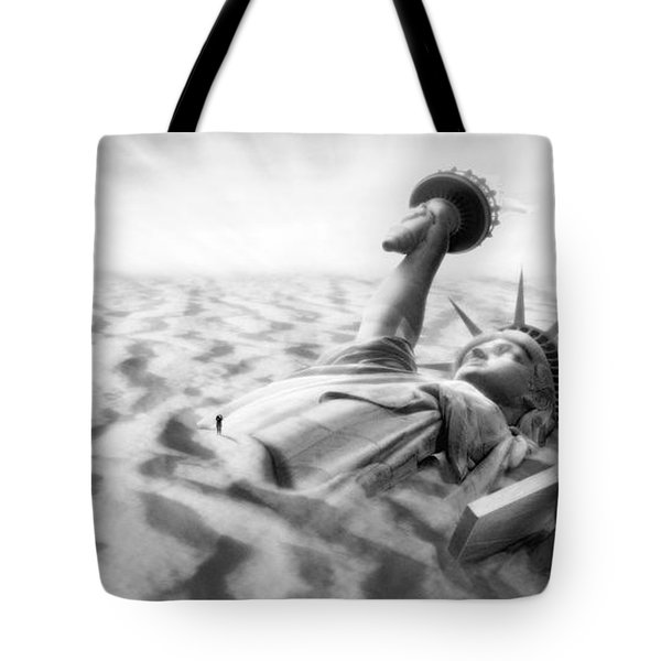 Liberty Park II Panoramic Tote Bag by Mike McGlothlen